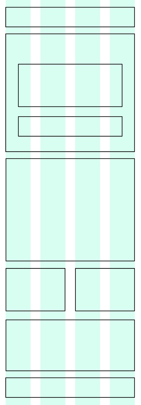 A small-screen wireframe